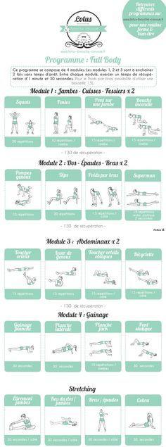 """Programme """"Full body"""" par module (n°2)"""