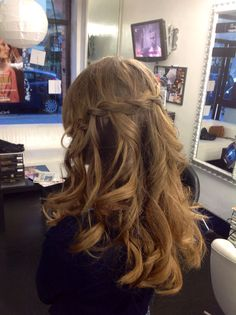 Waterfall braid  Treccia a cascata