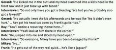 What can we conclude from this? Mikey's a boss, and Frank is dangerous!