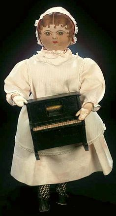 Rare American Cloth Doll from the Ladies Sewing Society of the Moravian Church. late 19th century.
