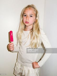 Young girl with popsicle