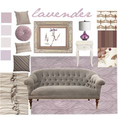 Paired with gray or taupe, lavender can create lovely foundation for a living room or bedroom.  Pale lavender walls can support more vibrant tones and read as a neutral. via roomrx lavender by cwall, via Polyvore