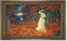Autumn Leaves Framed Print (1902)  by Tom Scott