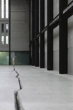 Doris Salcedo, Shibboleth. Turbine Hall at The Tate Modern. 2007.