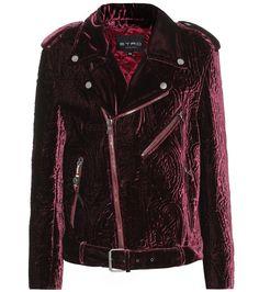 6c561d3ed731 Etro - Quilted velvet biker jacket - Etro s striking biker jacket has been  crafted in Italy
