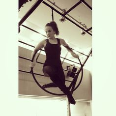 Aerial Hoop/Lyra - Me at Flying Fantastic in London today :)