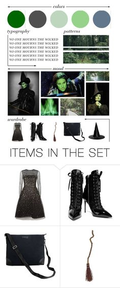 """no one mourns the wicked; elphaba moodboard"" by rey-the-scavenger ❤ liked on Polyvore featuring art"