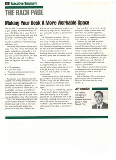 """""""Making Your Desk a More Workable Place"""" by Jeff Davidson breathingspace.com #worklifebalance #career #productivity #timemanagement #breathingspace #informationoverload"""