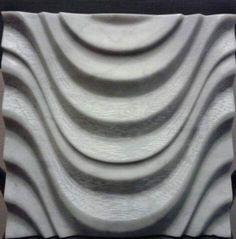Liquida pietra Rivestimento 3D in marmo di Carrara