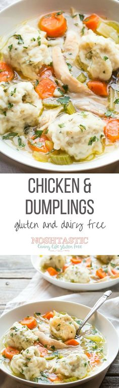 Gluten Free Chicken and Dumplings | Dinner doesn't get any better than this, it's Perfect Comfort Food!