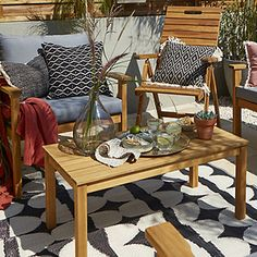 Brico Depot - It's good to be home Outdoor Furniture Sets, Outdoor Decor, Table, Home Decor, Plant, Decoration Home, Room Decor, Tables, Home Interior Design