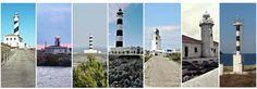 Los 7 faros de Menorca ¿Los conoces todos? Menorca, Cn Tower, Costa, Digital Marketing, Europe, Building, Beach, Lighthouses, Travel