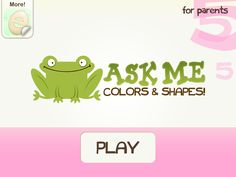 App for young users targeting colours and shapes