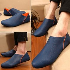 c327161559 Fashion Slip On Soft Loafer Driving Leather Casual Sneakers Oxfords Men  shoes B8