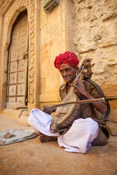 Músico en la India.