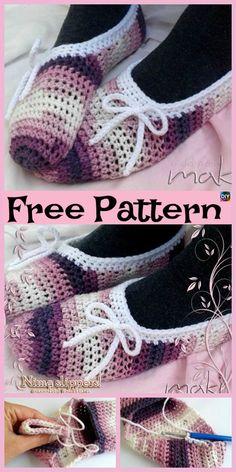 Cozy Crochet NIMA Slippers - Free #freecrochetpatterns #slippers