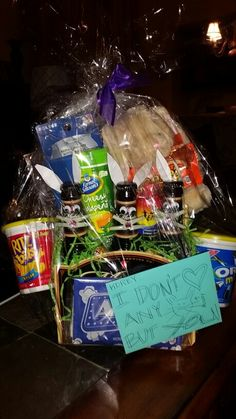 Easter basket for girlfriendboyfriend im so hoppy youre in my easter basket for him negle Images