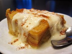 New Orleans-Style Bread Pudding With Whiskey Sauce - this is so, SO delicious!! I can't help but moan with every warm bite! MM