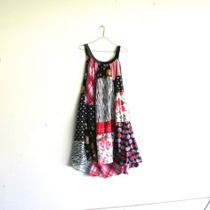 romantic Upcycled clothing / Patchwork Dress / Funky dress by CreoleSha, $120.00