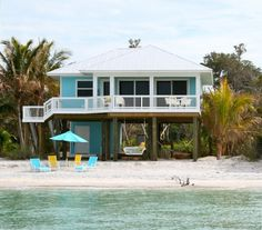 Oceanfront Luxury Home with Secluded Private Beach - North Captiva Island North Captiva Island, Sanibel Island, Coastal Homes, Coastal Living, Beach Properties, Beach Bungalows, Beach Cottage Decor, Tropical, Beach Cottages