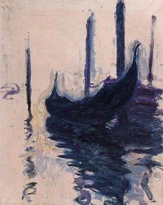 """Claude Monet ~ """"Gondole à Venise"""", 1908"""