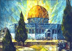 Palestine <3 Palestine Art, Dome Of The Rock, Arabian Art, Dance Paintings, Islam Religion, Islamic Art Calligraphy, Amazing Architecture, Jerusalem, Art History