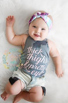 This listing is for one racerback Thick Thighs & Pretty Eyes tank. Exclusive design is screenprinted onto a super soft Kavio tank top (style leans more towards girls). Please size up if you are in any