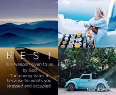 Be at a place where you can rest. #peace www.ninabrown.co.za Quote Collage, Collages, Biblical Quotes, Spiritual Quotes, Bible Quotes, Pretty Quotes, Christian Encouragement, My Mood, Color Of Life