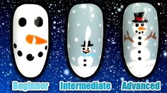 HOW TO PAINT A SNOWMAN NAIL ART | TASH'S CHRISTMAS QUICKIES | BEGINNER INTERMEDIATE ADVANCED  NAILS  Christmas is round the corner so I thought that I'd bring you a new special Christmas series of Tash's Christmas Quickies, designed for beginner, intermediate and advanced nail techs and DIY-ers wanting some quick and easy nail art design ideas, for use with nail polish, acrylic or gel polish.  This weekend in this Christmas nails series, I'm going to show you how to easily paint Snowman… Cute Christmas Nails, Xmas Nails, Christmas Nail Designs, Nail Art Diy, Easy Nail Art, Toothpick Nail Art, Snowman Nail Art, Gel Polish Designs, Seasonal Nails