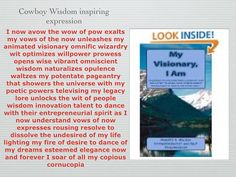 "I instantly nirvanaeyeszed avow of wow pow of my vows of now My Visionary, I Am: ""Book"" http://dld.bz/dqZ8c"