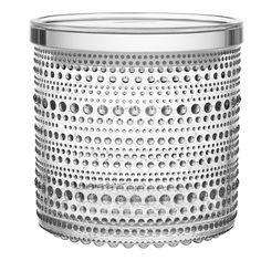 Kastehelmi jar 116 x 114 mm, clear, by Iittala.