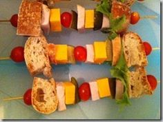 Lunch box ideas for kids. Lunch on a stick!