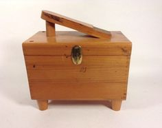 Vintage Wood Shoe Shine Storage Box-Cavalier by recollectshop