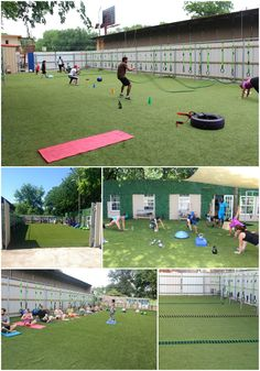 Outdoor field for fitness and events