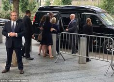 Supporting role: As Clinton collapsed getting into the Secret Service 'Scooby van', her aide Christine Falvo stopped her falling to the ground completely. It was hours before Clinton's campaign admitted just how ill she was