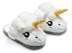 Plush Unicorn Fantasy Slippers - One Size Fits Most Adults - Think Geek Box Kawaii, Kawaii Doll, Design3000, White Unicorn, Tween Girls, Mode Style, Cool Stuff, Stuff To Buy, Birthday Gifts