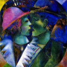 Marc Chagall, Green Lovers, 1915.