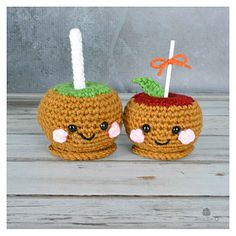 Caramel Candy Apples... adorable free pattern.