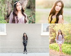 A fun senior session with lots of variety - edgy, urban downtown looks, as well as soft flowery looks with a flower crown in Carlisle, Pennsylvania. Photographed by Harrisburg senior photographer Tina Jay Photography.