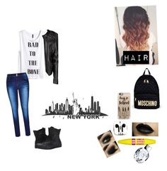 """""""I'm the baddest """" by cherry-drpepperhershey ❤ liked on Polyvore featuring Casetify, H&M, City Chic, Boohoo, Converse, Moschino, PhunkeeTree and Maybelline"""