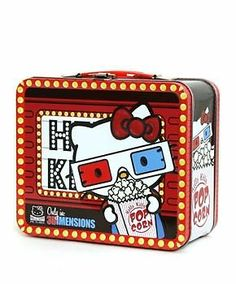 Loungefly Sanrio Hello Kitty Metal Tin 3D Movie Theater Popcorn Lunch Case Box