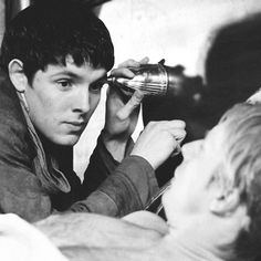 "A: ""Merlin! What are you doing?!"" M: ""Shhh! You'll scare off the woodworm."" #merlin"