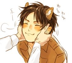 puppy eren x levi fluff - Google Search I WANT A PUPPY EREN >.<