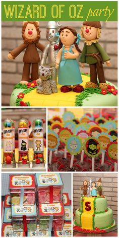 A wonderful Wizard of Oz girl birthday party with amazing party decorations and birthday cake!  See more party planning ideas at CatchMyParty.com!