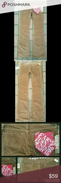 Earnest Sewn ALI Brown Corduroy BootCut Jeans Pant Bnwt $150 SZ 26 Earnest Sewn Denim Delights  .Lolol altho they are CORDUROY were part of the Earnest AM I.. lower price point coll Earnest Sewn put out several yrs ago..thee line is import..Made in China . Rather than usa ,hence lower $ Ali Bootcut Boot Cut LUXE thin wale corduroy a shade of brown that my galaxy S6 camera didn't seem to like to pick up quite right  TIS a reddish med brown/tan shade or maybe brown w/red undertones, almost…