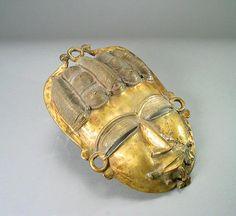 Baule Brass Mask - PF.9911 (LSO) Origin: Ivory Coast Circa: 20 th Century AD  Collection: African Art