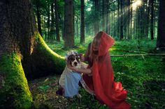 Little Red Riding Hood and the Wolf #Halloween