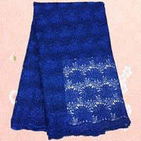(5yards/lot) YS1-3, Royalblue !High Quality 100% Cotton Cord  Lace African Lace Fabric water soluble!mesh lace for sexy dress!