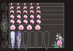 One stroke roses Rose Nail Art, 3d Nail Art, Nail Art Hacks, 3d Nails, Nail Manicure, Nail Arts, Uñas One Stroke, One Stroke Nails, One Stroke Painting