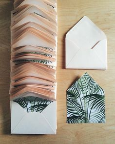 palm liners & blush envelopes / paper & type.